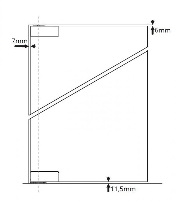 Set balama usa pivotanta cu amortizor incorporat 1