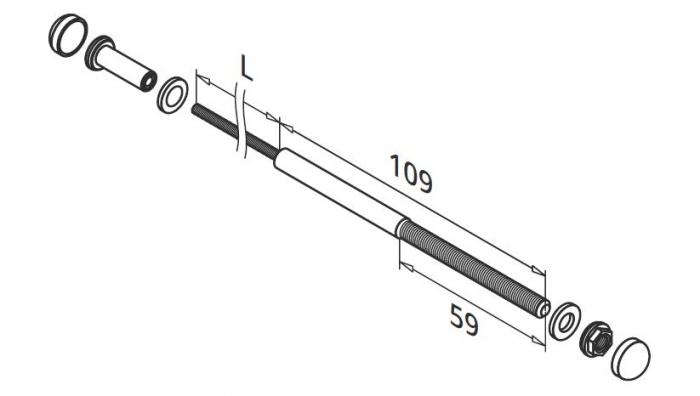 Set cablu FAST FIX pentru montant balustrada 1