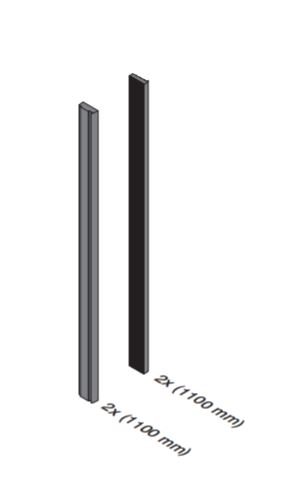 Set cale si garnituri balcon frantuzesc Easy Glass® View, L=2x1100 mm 1