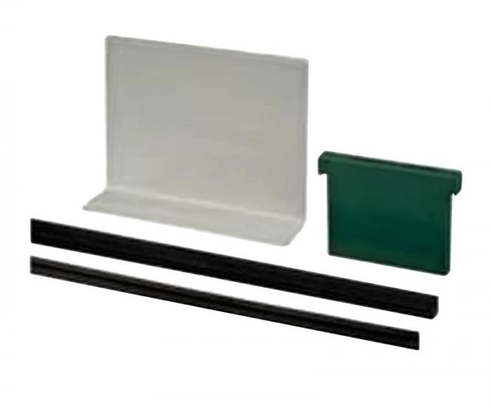 Set cale si garnituri profil U balustrada Easy Glass® Eco sticla 12-21,52 mm, L=5 ml [0]