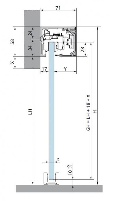 Set glisanta Dorma Muto Comfort L80 Dormotion 1 foaie mobila 1
