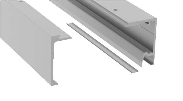 Set profil glisare Compact-X110 cu parte fixa montaj tavan 0