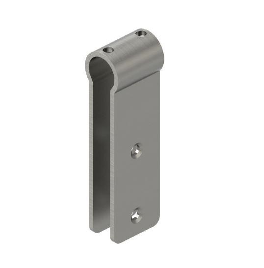 Conector teava Ø25 mm/sticla-HPL 10-13 mm compartimentare toaleta [0]