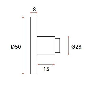Conector perete/teava Ø25 mm compartimentare toaleta 1