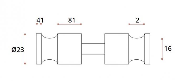 Buton usa sticla/HPL 10-13 mm compartimentare toaleta 1