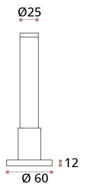 Picior reglabil 120-150 mm sticla/HPL 10-13 mm compartimentare toaleta 1