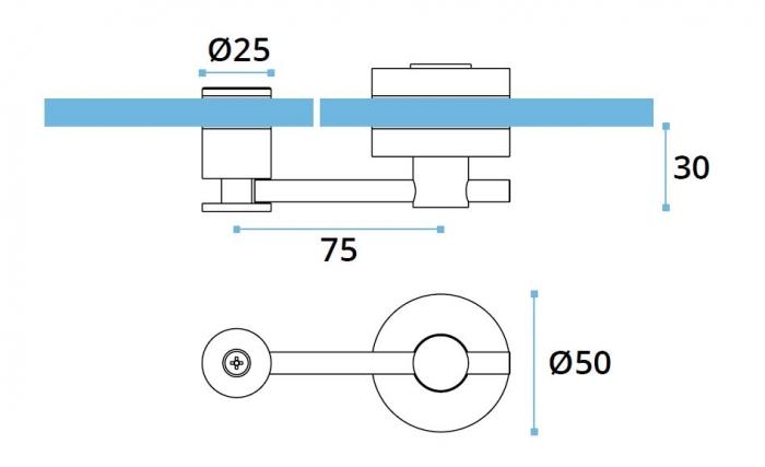 Incuietoare usa sticla/HPL 10-13 mm compartimentare toaleta 1