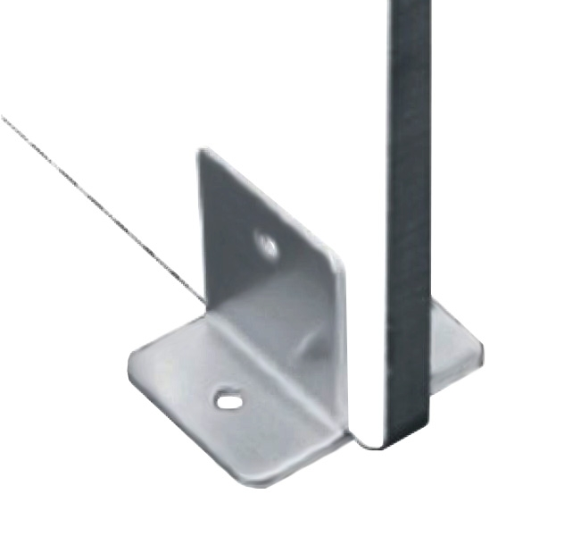 Conector inferior cu talpa 90° sticla/HPL 10-13 mm compartimentare toaleta 0