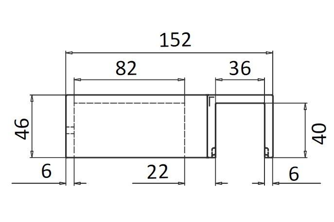Suport fixare montant profil mana curenta Easy Glass® Hybrid 1