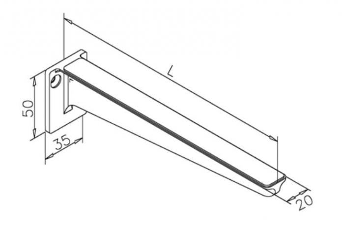 Suport polita sticla, L=200 mm [1]