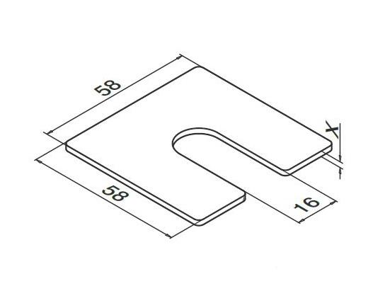 Talpa compensare profil U balustrada Easy Glass® Smart fixare pardoseala 1