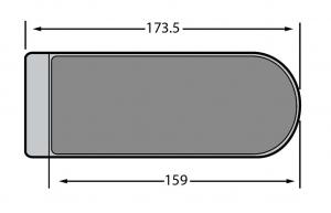 Contrabroasca Dorma Studio Rondo usa sticla 8-10 mm2