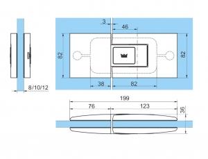 Set 2 balamale hidraulice Dorma Tensor sticla/sticla1
