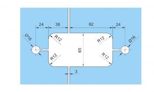 Set 2 balamale hidraulice Dorma Tensor sticla/sticla2