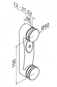 Prindere punctuala dubla Ø50x38 mm1