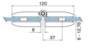 Balama portita balustrada sticla/sticla [2]
