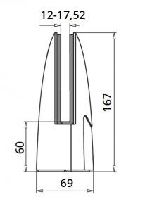 Prindere punctuala ovala pardoseala 69x110 mm1