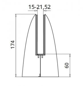 Prindere punctuala ovala pardoseala 102x110 mm1
