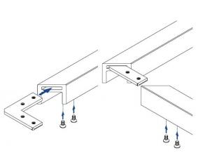Conector 90° profil U/mana curenta Easy Glass® Hybrid2