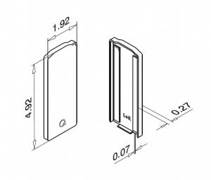 Capac capat profil U balustrada Easy Glass® Eco, fixare pardoseala1