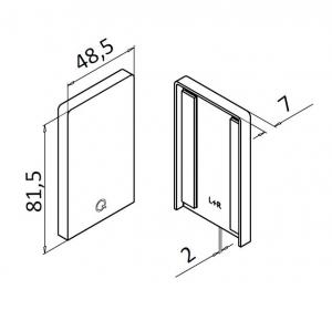 Capac capat profil U balustrada Easy Glass® Up, stanga-dreapta1