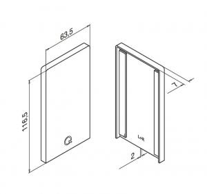 Capac capat profil U balustrada Easy Glass® Smart fixare pardoseala1