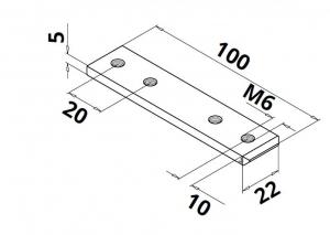 Conector 180° profil/mana curenta U Easy Glass® Hybrid1
