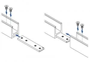 Conector 180° profil/mana curenta U Easy Glass® Hybrid2
