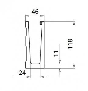 Profil U balustrada Easy Glass® Eco fixare laterala1