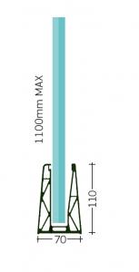 Profil U balustrada 18.20 LUX fixare pardoseala [1]