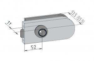 Broasca Studio pentru cilindru usa sticla 8-10 mm1