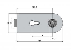 Broasca Studio pentru cilindru usa sticla 8-10 mm2