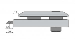 Broasca Studio pentru cilindru usa sticla 8-10 mm4