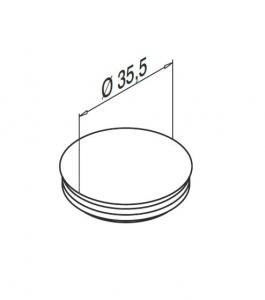 Capac mascare gauri fixare profil U balustrada Easy Glass® Smart1
