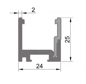 Profil monobloc cu clips inferior1