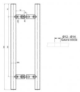 Maner rotund, interax 350 mm, L=500 mm1
