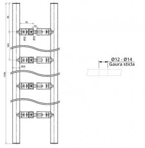 Maner rotund, interax 520 mm, L=1750 mm1