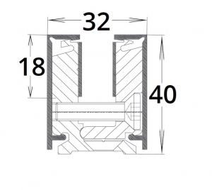 Corp sina perimetrala LM  Dorma, sticla 10 mm [1]
