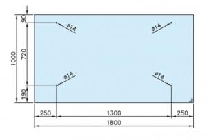 Set copertina cu tirant sticla 10-17,52 mm [1]