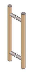 Maner rotund, Ø32, interax 350 mm, L=500 mm [0]
