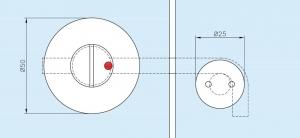Incuietoare sticla 8-10 mm compartimentare toaleta [1]