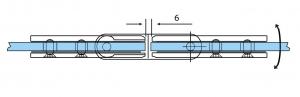 Balama ajustabila sticla/sticla 180°2