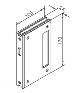 Contrabroasca incuietoare usa glisanta sticla 10 mm1