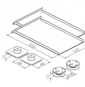 Set accesorii fixare mecanica oglinda max 1,6 m²1