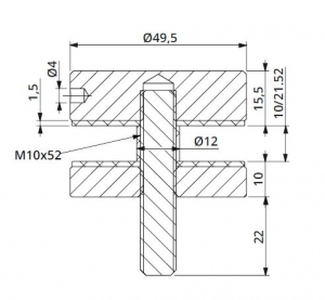 Conector sticla Ø50x10 mm1