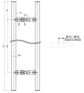 Maner rotund, interax 520 mm, L=700 mm1