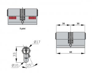 Cilindru broasca Dorma usa sticla 8-10 mm3