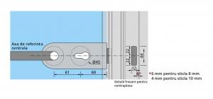 Set Dorma Studio Rondo broasca pentru cilindru + 2 balamale usa sticla 8 mm2