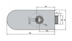Broasca Dorma Studio Rondo fara incuiere usa sticla 8-10 mm [1]