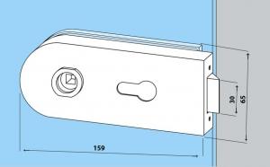 Broasca Dorma Studio Rondo pentru cilindru usa sticla 8-10 mm2